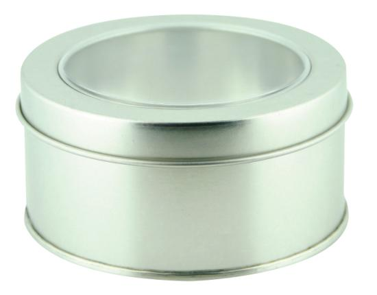 Circle Tin with window on lid