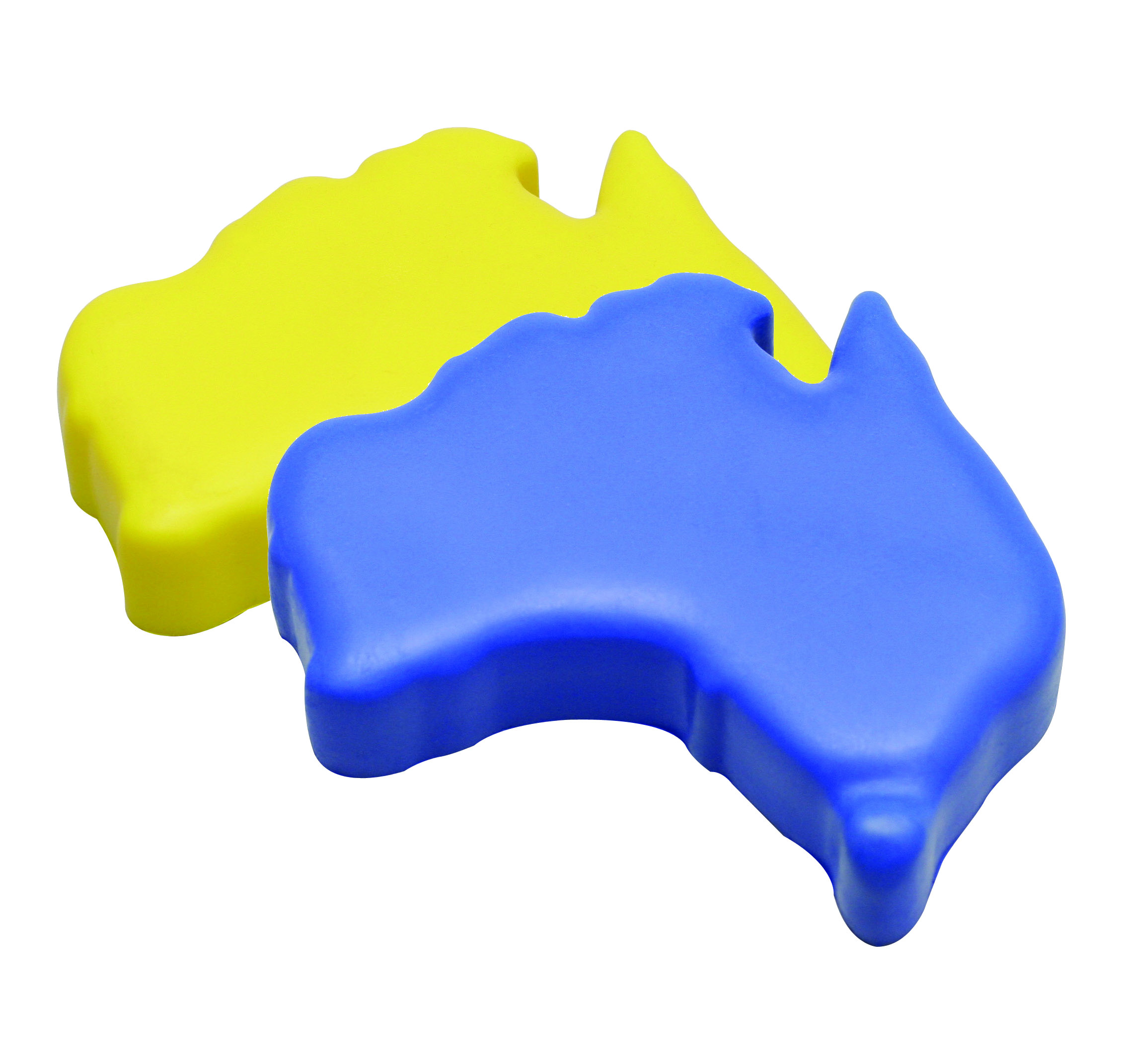 AUSSIE MAP  (yellow, blue)